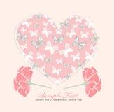 Carte de jour de valentines avec le coeur Image libre de droits