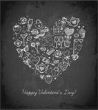 Carte de jour de Valentines avec le coeur Photographie stock libre de droits