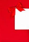 Carte de jour de valentines avec le copyspace pour le texte de salutation sur le dos de rouge Image libre de droits