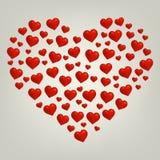 Carte de jour de valentines de coeur Image libre de droits