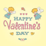 Carte de jour de valentines de St Image stock