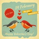 Carte de jour de valentines de vintage illustration stock