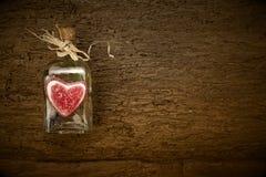 Carte de jour de valentines, fond rustique Image stock