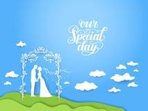 Carte de jour du mariage Photos libres de droits