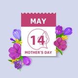 Carte de jour du ` s de mère Photo libre de droits
