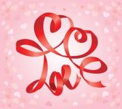 Carte de jour du ` s de Valentine avec des coeurs Images libres de droits