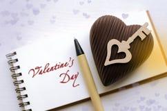 Carte de jour du ` s de St Valentine Images libres de droits
