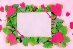 Carte de jour du ` s de Valentine à donner à un beau, doux et coloré Images libres de droits