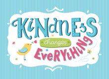 Carte de jour de gentillesse du monde illustration de vecteur