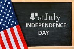 Carte de Jour de la Déclaration d'Indépendance Images libres de droits