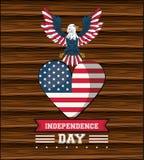 Carte de Jour de la Déclaration d'Indépendance des Etats-Unis illustration libre de droits