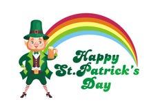 Carte de jour de Patricks Images stock