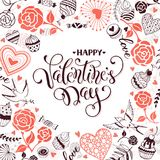 Carte de jour de Valentine Photo stock