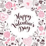 Carte de jour de Valentine Photographie stock libre de droits