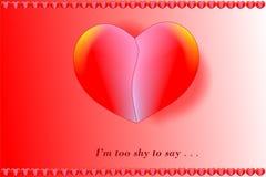 Carte de jour de valentines montrant un coeur coloré Image stock
