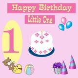 Carte de joyeux anniversaire 1 an Photo libre de droits