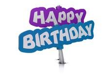 Carte de joyeux anniversaire Photo stock