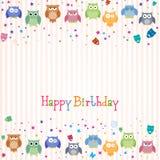 Carte de joyeux anniversaire illustration stock