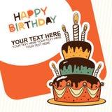 Carte de joyeux anniversaire Photographie stock