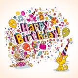 Carte de joyeux anniversaire Images stock