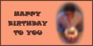 Carte de joyeux anniversaire Image libre de droits
