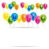 Carte de joyeux anniversaire - Allemand Photographie stock libre de droits