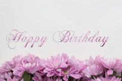 Carte de joyeux anniversaire avec des fleurs Photo stock