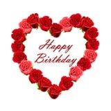 Carte de joyeux anniversaire avec des roses illustration libre de droits
