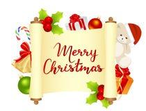 Carte de Joyeux Noël Image stock