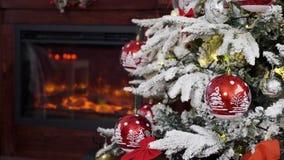Carte de Joyeux Noël banque de vidéos