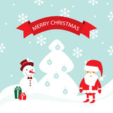Carte de Joyeux Noël de vecteur Image libre de droits