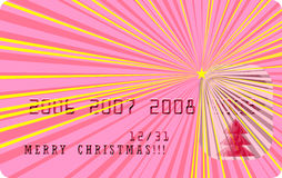 Carte de Joyeux Noël de vecteur illustration de vecteur