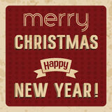 Carte de Joyeux Noël et de bonne année Image stock