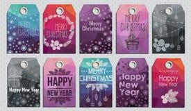 Carte de Joyeux Noël et de bonne année Image libre de droits