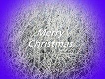 Carte de Joyeux Noël faite utilisant les usines naturelles, Lithuanie images stock