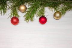 Carte de Joyeux Noël Thème de Noël d'hiver An neuf heureux snowing Images libres de droits