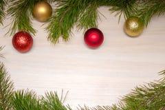 Carte de Joyeux Noël Thème de Noël d'hiver An neuf heureux snowing Photo stock