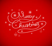 Carte de Joyeux Noël, alphabet tiré par la main Photo libre de droits