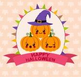 Carte de kawaii de Halloween illustration libre de droits