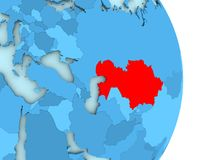 Carte de Kazakhstan en rouge illustration libre de droits