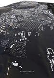 Carte de Krasnoïarsk dans les routes et les bâtiments isométriques du paysage 3d illustration libre de droits