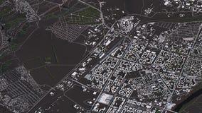Carte de Krasno?arsk dans les routes et les b?timents isom?triques du paysage 3d illustration de vecteur