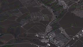 Carte de Krasno?arsk dans les routes et les b?timents isom?triques du paysage 3d illustration libre de droits