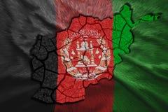 Carte de l'Afghanistan Photographie stock libre de droits