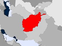 Carte de l'Afghanistan Photos libres de droits