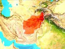 Carte de l'Afghanistan Illustration de Vecteur