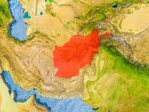 Carte de l'Afghanistan Images stock