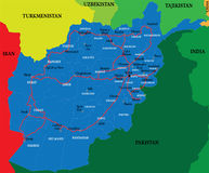 Carte de l'Afghanistan Photos stock