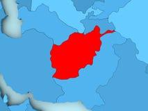 Carte de l'Afghanistan Image stock