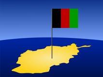 Carte de l'Afghanistan avec l'indicateur Images libres de droits
